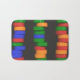 Colorful cylinders Bath Mat