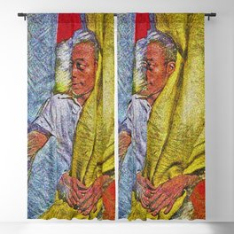 Harlem Renaissance 'James Baldwin' Portrait by Jeanpaul Ferro Blackout Curtain