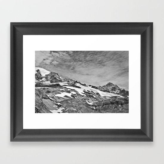 Rugged Mountain Hike Framed Art Print