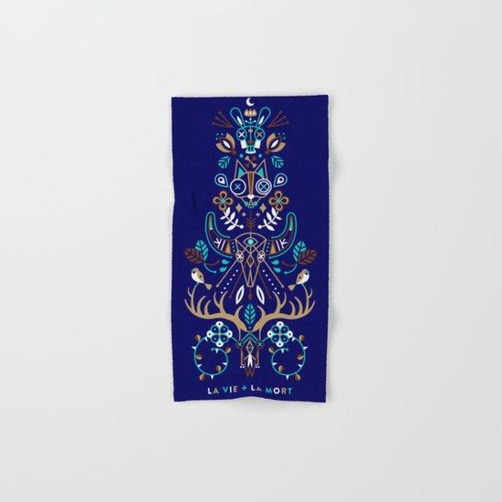 La Vie & La Mort – Navy Hand & Bath Towel