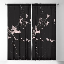 Black Marble and Blush Pink #1 #decor #art #society6 Blackout Curtain