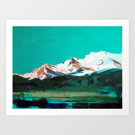 Holographic Valley (San Luis Valley) Art Print