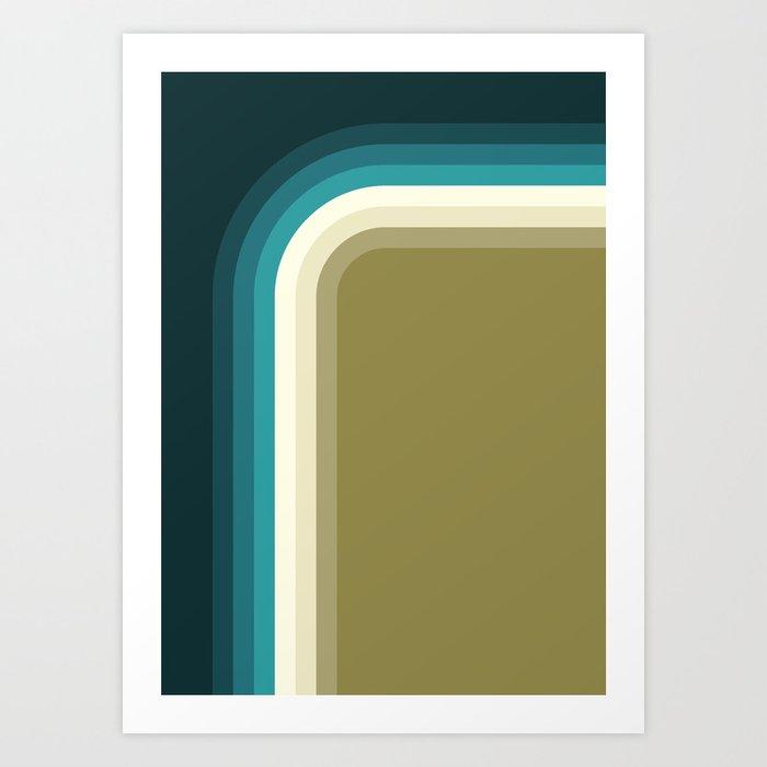 Graphic 876 // Cool & Drab Bend Kunstdrucke