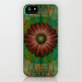 """""""Daisy Woman (Red Daisy, pattern)"""" iPhone Case"""