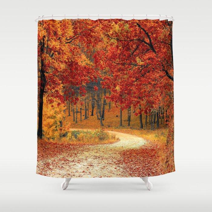 Autumn Landscape 1   Paysage d'Automne 1 Shower Curtain