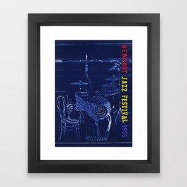 1955 Newport Jazz Festival Vintage Advertisement Poster Newport, Rhode Island Framed Art Print