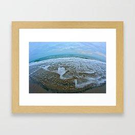 Fisheye Beach Framed Art Print