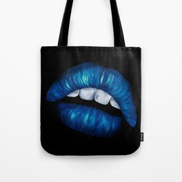 Chapped and Blue Tote Bag