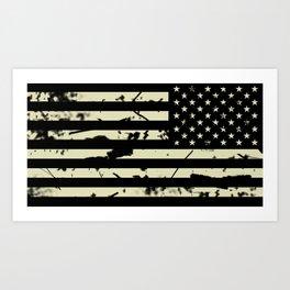 Distressed Tactical U.S. Flag Art Print