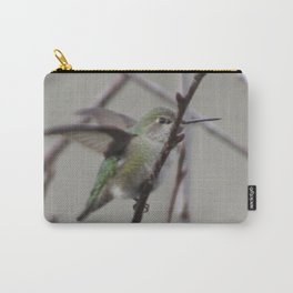 Humingbird  in Cherry Tree Carry-All Pouch