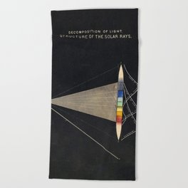 Decomposition of Light Vintage Illustration by Edward Livingston Youmans Beach Towel
