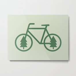 Pacific Northwest Cycling - Bike, Bicycle, Portland, PDX, Seattle, Washington, Oregon, Portlandia Metal Print