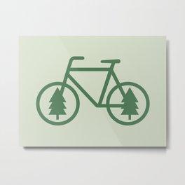 Pacific Northwest Cycling - Bike, Bicycle, Portland, PDX, Seattle, Washington, Oregon, Portlandia Metal Print