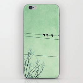 Birds on a Wire, no. 7 iPhone Skin