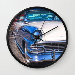 blu crown vic  Wall Clock