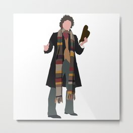 Fourth Doctor: Tom Baker Metal Print