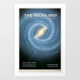 THE GALAXY - Milky Way | Space | Time | Stars | Science | Planets Kunstdrucke