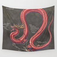 muscle Wall Tapestries featuring Asian Lung Muscle Anatomy by Rushelle Kucala Art