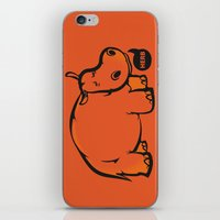 hippo iPhone & iPod Skins featuring Hippo by ILINDESIGNS