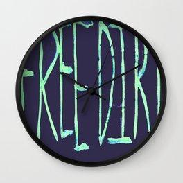 Free Dirt Wall Clock