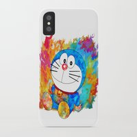 doraemon iPhone & iPod Cases featuring Doraemon by ururuty