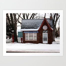chilled fuel stop Art Print