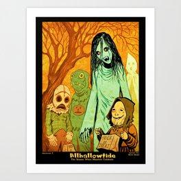 Allhallowtide 3 Hallween Poster Art Print
