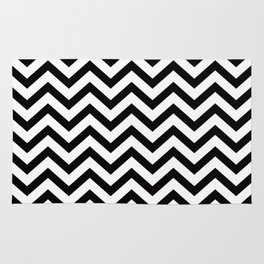 Simple Chevron Pattern - Black & White - Mix & Match with Simplicity Rug