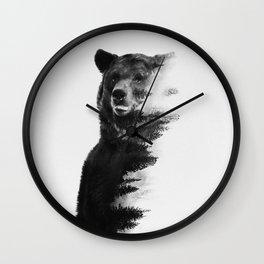 Observing Bear Wall Clock