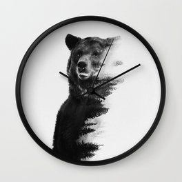 Observing Bear Wall Clock
