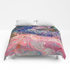 Flamingos by the Sea Comforters