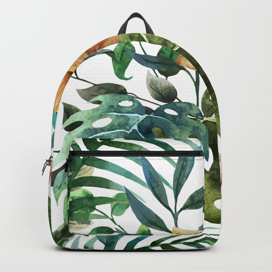 Tropical Floral Pattern 03 Backpack