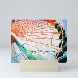 Giant carnival ferris wheel photo | Enjoy the journey Mini Art Print