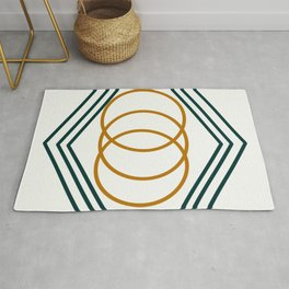Abstract Color Rings Rug
