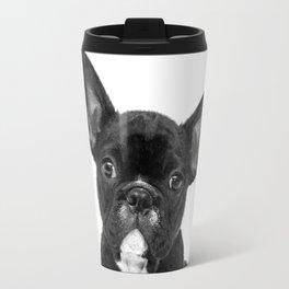 Black and White French Bulldog Travel Mug