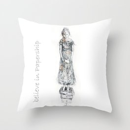 believe in papership Throw Pillow