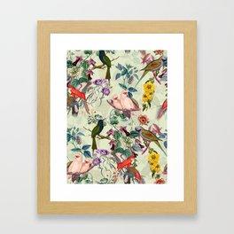 Floral and Birds VIII Framed Art Print