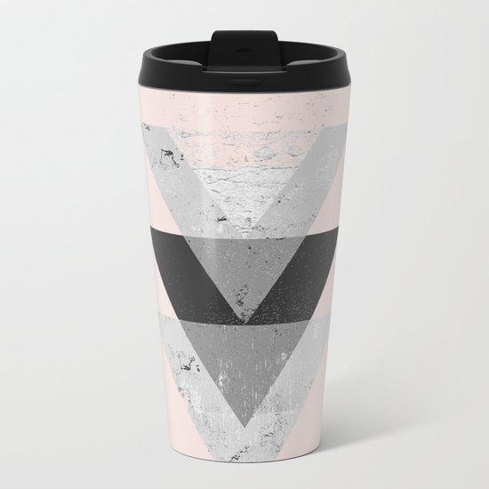 Inverted triangle geometric pattern Metal Travel Mug