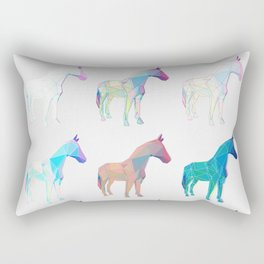 Geometric Horse 2 Rectangular Pillow