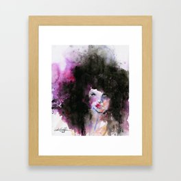 Big Hair No. 2 Framed Art Print