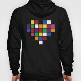 Pixel Heart Multicolor Love Hoody