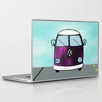 van Laptop & iPad Skins featuring Hippie Van  by The Bohemian Bubble