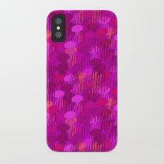Jellyfish Pink iPhone X Slim Case