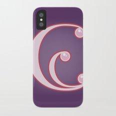 Alphabet E iPhone X Slim Case