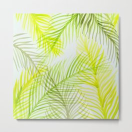 Painted Palm Fronds Metal Print
