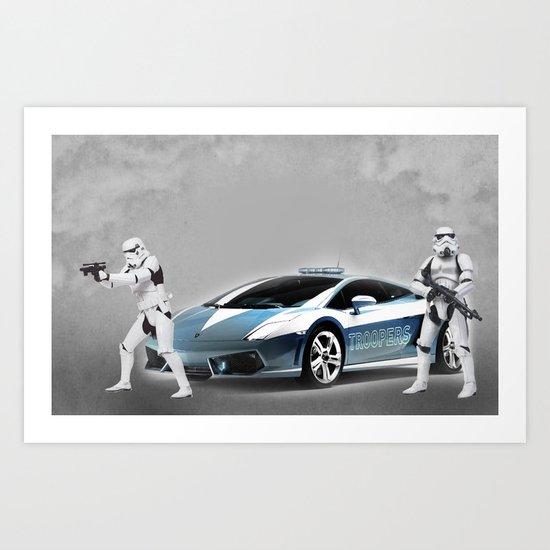 Lamborghini Troopers Art Print