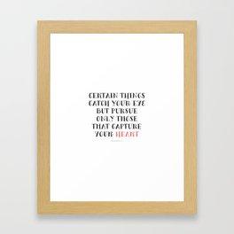 Heart Captured Framed Art Print