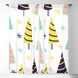 Colorful Christmas Trees Blackout Curtain