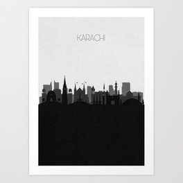 City Skylines: Karachi Art Print