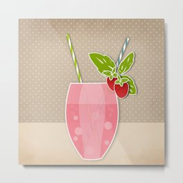 """Picture. Strawberry juice. From a set of paintings. The """"kitchen"""". Metal Print"""
